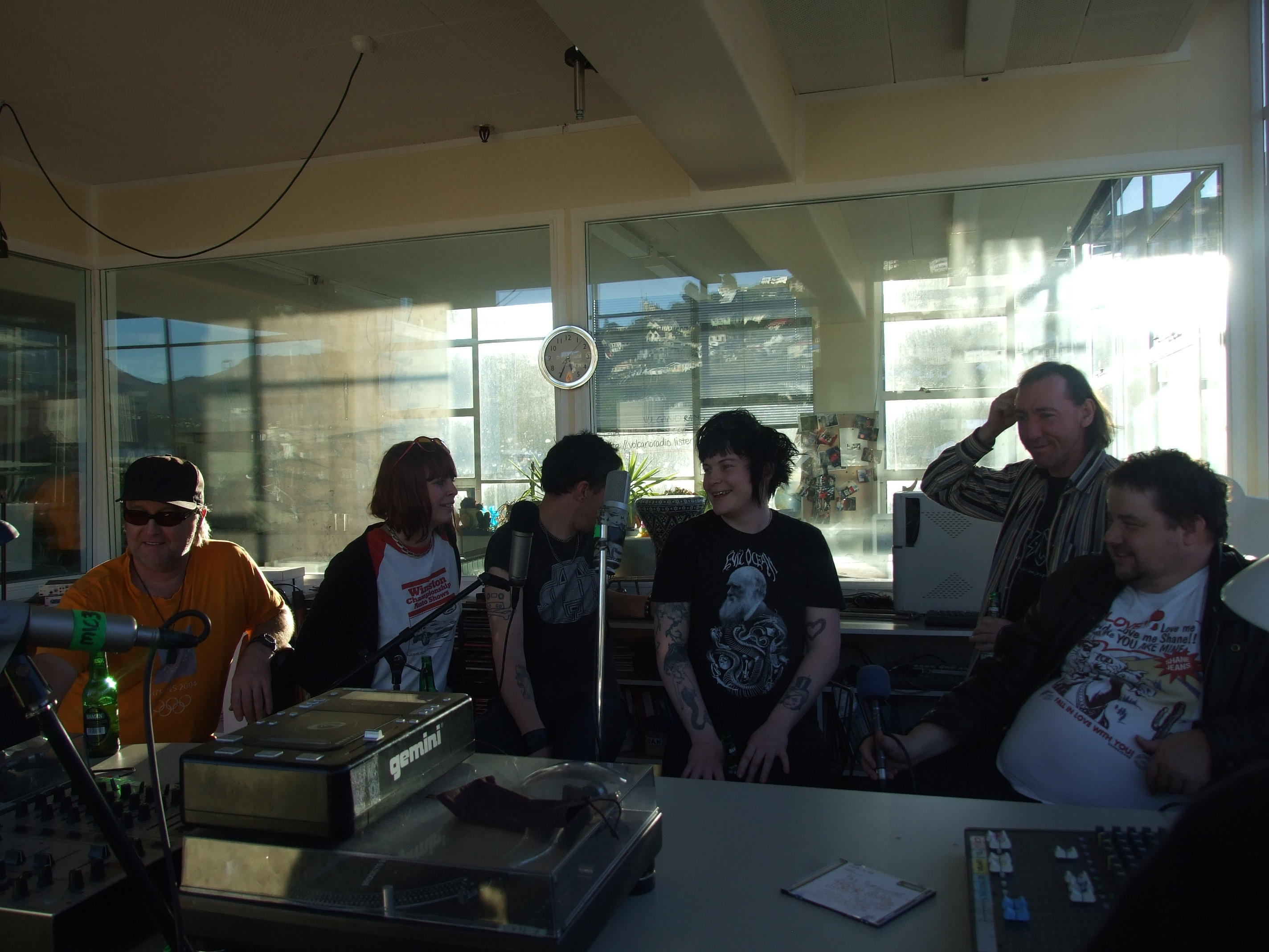 Axemen / Hairdos at Radio Volcano, Lyttelton September 2009